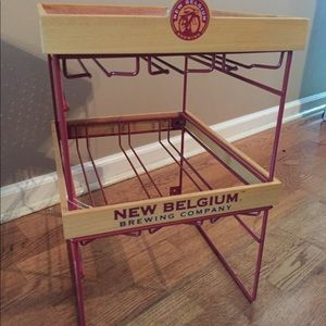 New Belgium Brewery glasses holder one of a kind!